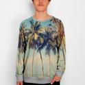Sweatshirt Palms Grey Mélange