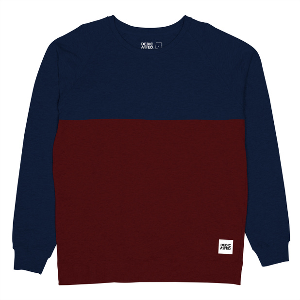 Sweatshirt 50-50  Burgundy/Navy
