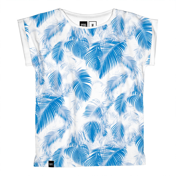 Visby T-shirt Blue Leaves