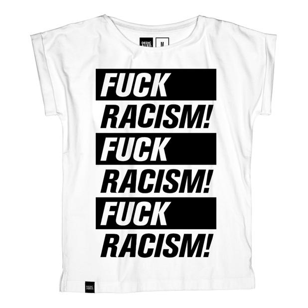Visby T-shirt Fuck Racism