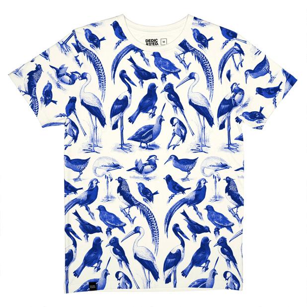 Stockholm T-shirt Blue Birds