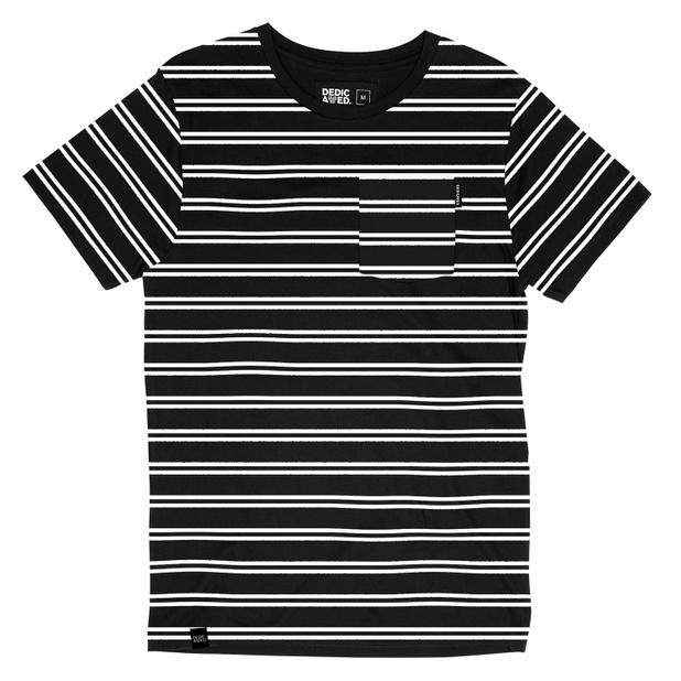 Stockholm T-shirt Double Stripe Black