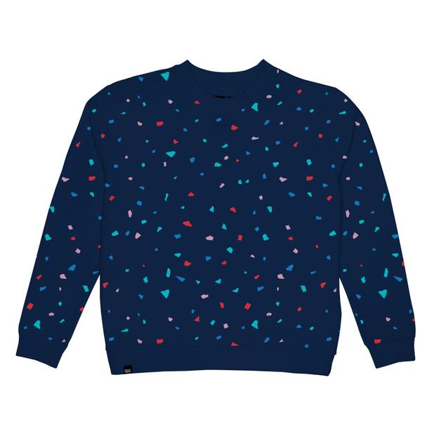 Ystad Sweatshirt Blue Confetti